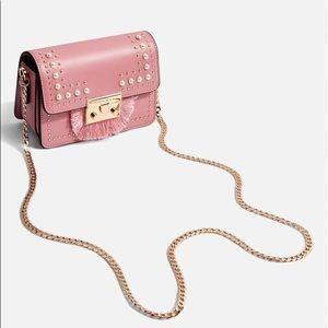 NWOT Topshop Rosie Pearl Fringe Crossbody Bag